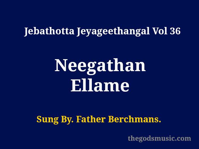 Neegathan Ellame lyrics